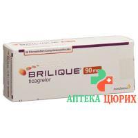 Бриликве 90 мг 56 таблеток покрытых оболочкой