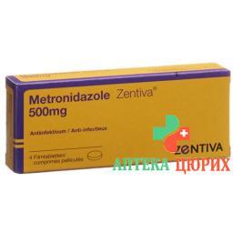 Метронидазол Зентива Трихо 500 мг 4 таблетки покрытые оболочкой