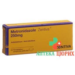 Метронидазол Зентива 250 мг 20 таблеток покрытых оболочкой
