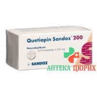 Кветиапин Сандоз 200 мг 60 таблеток покрытых оболочкой