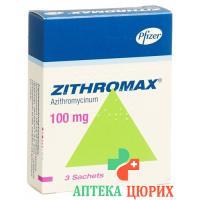 Зитромакс гранулы 100 мг 3 пакетика