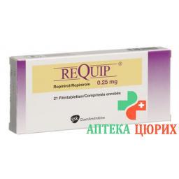 Рекуип0,25 мг 21 таблетка покрытая оболочкой