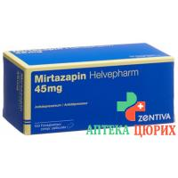 Миртазапин Хелвефарм 45 мг 100 таблеток покрытых оболочкой