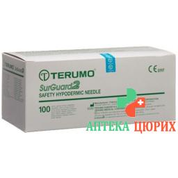 Terumo SurGuard2 Sicherheits-Einmalkanulen 18г 1.2x38мм Rosa 100 штук