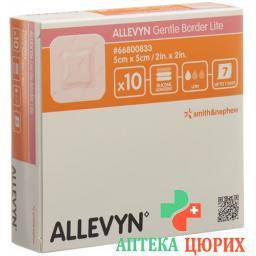 Allevyn Gentle Border Lite повязка для ран 5x5см 10 штук