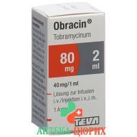 Обрацин 80 мг/2 мл флакон 2 мл раствор для инъекций