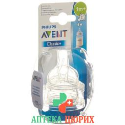 Avent Philips Tee Sauger 2 Loch Silikon 2 штуки