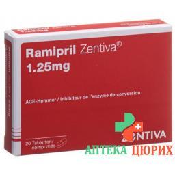 Рамиприл Зентива 1,25 мг 20 таблеток