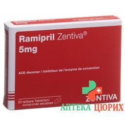 Рамиприл Зентива 5 мг 20 таблеток