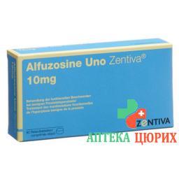 АлфузозинУно Зентива 10 мг 90 ретард таблеток