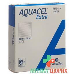 Aquacel Extra Hydrofiber Verband 5x5см 10 штук