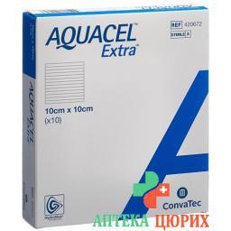 Aquacel Extra Hydrofiber Verband 10x10см 10 штук