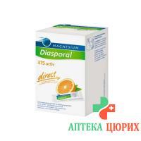 Магний Диаспорал Актив Директ Апельсин 375 мг 60 стиков