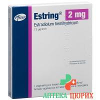 Эстрингвагинальноекольцо с депо эстрогена (2 мг эстрадиола - 7,5 мкг / 24 ч)