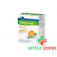 Магний Диаспорал Актив Директ Апельсин 375 мг 20 стиков