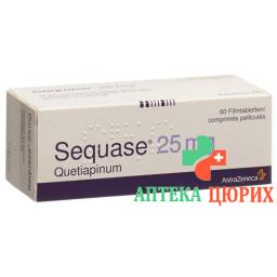 Секвазе 25 мг 60 таблеток покрытых оболочкой