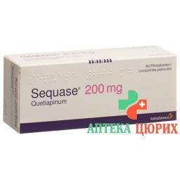 Секваз 200 мг 60 таблеток покрытых оболочкой