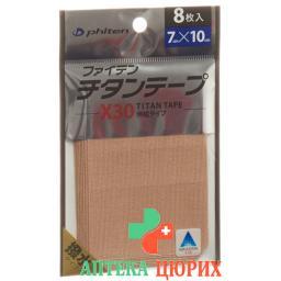 Phiten Aqua Titan Tape X30 7 см x 10 см elastisch 8 штук