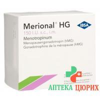 Мерионал HG сухое вещество 150 МE с растворителем 10 предварительно заполненных шприцев