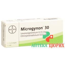 Микрогинон-30 3 x 21 драже