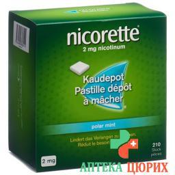 Никоретте Полярис 2 мг 210 мятных жевательных таблеток