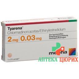 Тиарена 3х21 таблетке покрытых оболочкой
