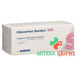 Ирбесартан Сандоз 300 мг 98 таблеток покрытых оболочкой