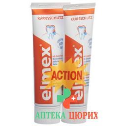 Elmex Rot Zahnpasta 2x 75мл