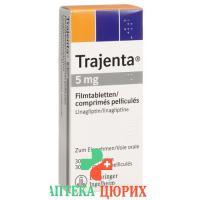 Тражента 5 мг 30 таблеток покрытых оболочкой