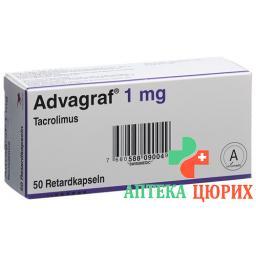 Адваграф 1 мг 50 ретард капсул