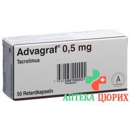 Адваграф 0.5 мг 50 ретард капсул