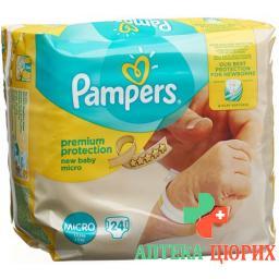 Pampers Micro Windel mit Ui 1-2.5кг 24 штуки