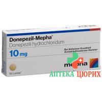 Донепезил Мефа 10 мг 30 таблеток покрытых оболочкой