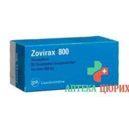 Зовиракс 800 мг 35 таблеток покрытых оболочкой