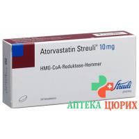 Аторвастатин Штройли 10 мг 30 таблеток покрытых оболочкой