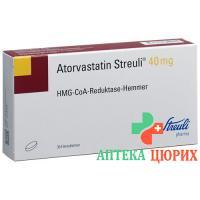 Аторвастатин Штройли 40 мг 30 таблеток покрытых оболочкой