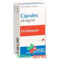 Ципралекс капли 20 мг / мл флакон 15 мл