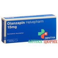 Оланзапин Хелвефарм 15 мг 28 таблеток