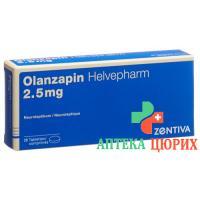 Оланзапин Хелвефарм 2,5 мг 28 таблеток