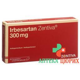 Ирбесартан Зентива 300 мг 28 таблеток покрытых оболочкой