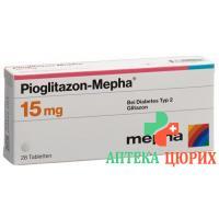 Пиоглитазон Мефа 15 мг 28 таблеток