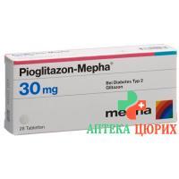Пиоглитазон Мефа 30 мг 28 таблеток