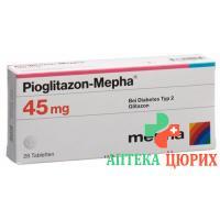 Пиоглитазон Мефа 45 мг 28 таблеток