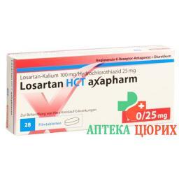 Лозартан НСТ Аксафарм 100/25 мг 98 таблеток покрытых оболочкой