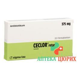 Цеклор Ретард 375 мг 20  таблеток покрытых оболочкой