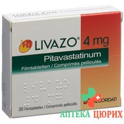 Ливазо 4 мг 30 таблеток покрытых оболочкой