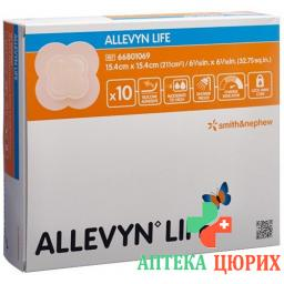 Allevyn Life Adhasiver Silikonschaumverband 15.4x15.4см 10 штук