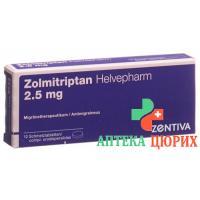 Золмитриптан Хельвефарм 2.5 мг 12 растворимых таблеток