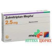 Золмитриптан Мефа 2.5 мг 12 таблеток покрытых оболочкой