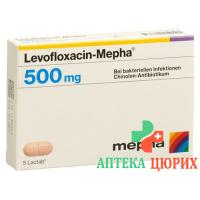 Левофлоксацин Мефа 500 мг 10таблеток покрытых оболочкой